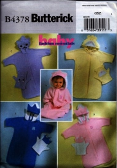 B4378 Butterick Pattern BABY FASHION ESSENTIALS Baby Sack and Mitt