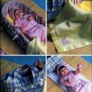 B4111 Butterick Pattern Bunting, Hat, Blanket, Basket Liner, Diaper Bag