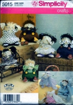 S5015 Simplicity Pattern Decorative Dolls by PUDDIN- HEAD
