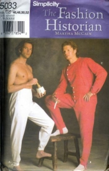 S5033 Simplicity Pattern HISTORIAN Costumes by MARTHA McCAIN Mens Size AA 38-44