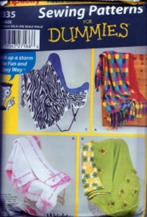 S5335 Simplicity Pattern FLEECE BLANKETS and THROWS by DUMMIES