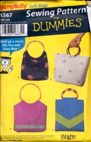 S5567 Simplicity Pattern BAGS 4 - Styles for DUMMIES