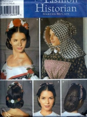 S5740 Simplicity Pattern CIVIL WAR MILLINERY Headpieces by MARTHA McCAIN
