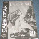 The Lion King - Instruction Booklet (Sega Game Gear)