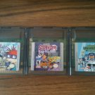Three (3) Game Boy Color games - Rugrats, Dexter's Lab, Scooby-Doo!