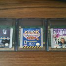 Three (3) Game Boy Color games - Trouballs, Millionaire, Cubix
