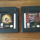 Lot of two (2) Nintendo Game Boy Color cartridges - Mortal Kombat 4 and Rats!