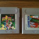 Lot of two (2) Nintendo Game Boy cartridges - Power Rangers and NASCAR