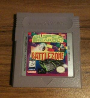 2 in 1: Battlezone & Super Breakout (Nintendo Game Boy, 1997)