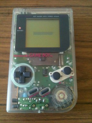 Nintendo Game Boy System - Play It Loud! Series: Clear Edition (Nintendo, 1995)