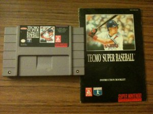Tecmo Super Baseball w/ Instruction Manual (Super Nintendo, 1993)