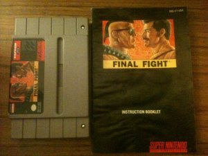 Final Fight w/ Instruction Booklet (Super Nintendo, 1990)