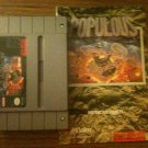 Populous w/ Instruction Booklet (Super Nintendo, 1991)
