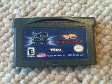 Hot Wheels Double Pack - Velocity X & World Race (Nintendo Game Boy Advance, 2005)