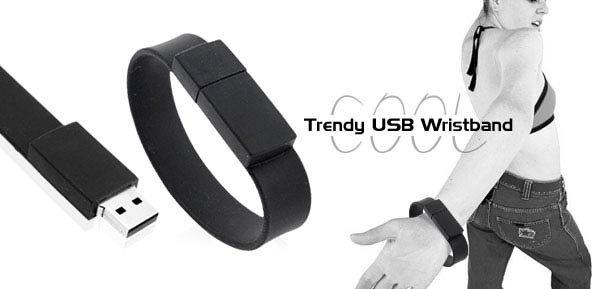 COOL-LOOK USB Wristband with 1GB Flash Memory