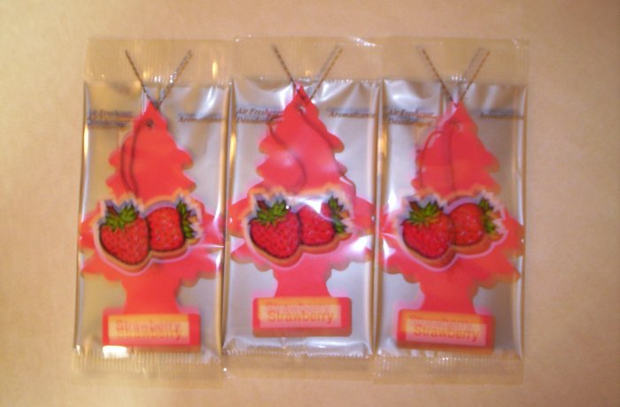 Strawberry  Tree Air Freshener - Lot of 3 -