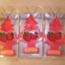 Strawberry  Tree Air Freshener - Lot of 3 -