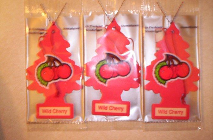 Wild Cherry  Tree Air Freshener - Lot of 3 -