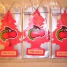 Wild Cherry  Tree Air Freshener - Lot of 3 -