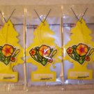 Jasmin  Tree Air Freshener - Lot of 3 -
