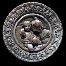 Two Angels-Eroses round plaque sculpture