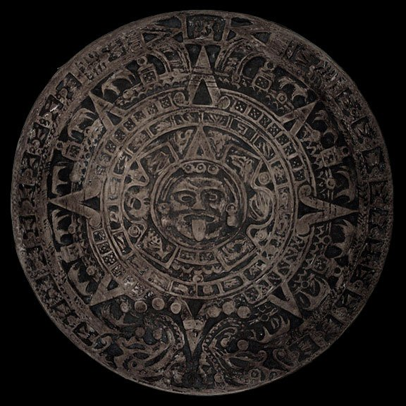 Medium Aztec Maya Inca Calender Plaque Sculpture