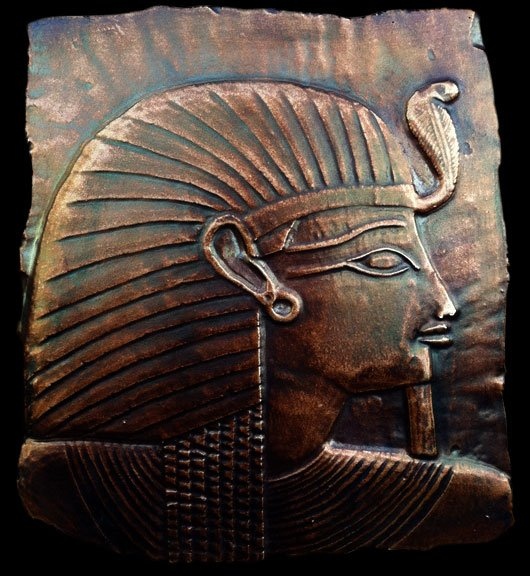 Ancient egyptian pharaoh king sculpture relief plaque