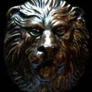 Large and Heavy Lion Head plaque sculpture