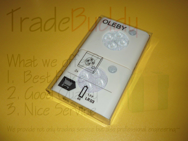 2x Ikea Oleby Under Cabinet Led Lamp With Motion Sensor
