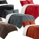 Borrego Comforter/Throw/Blanket Set with Pillow Shams Reversible Soft Sherpa