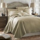 Coverlet Caterina Taupe 3pc Luxurious Quilted Bedspread Set Tencel / Cotton