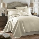 Coverlet Caterina Ivory 3pc Luxurious Quilted Bedspread Set Tencel / Cotton