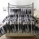 Silhuett 3pc Reversible Down Alternative Comforter Set, Green Taupe Black White