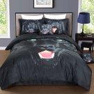 FINAL SALE Black Panther TWIN Size Bed 100% Cotton 3p Reversible Print Duvet Set