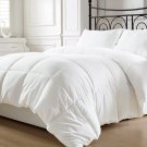 Reversible White Down Alternative Comforter, Duvet Insert, Cover Twin,Queen King
