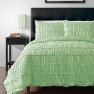 Pinzon MINT, Green 4pc Duvet Cover Set With Duvet Insert Queen Size Bed Cover