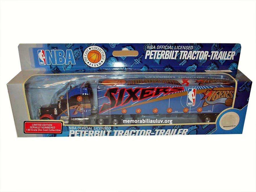 Philadelphia 76ERS UD NBA Peterbilt Semi Truck 1:80 Die Cast