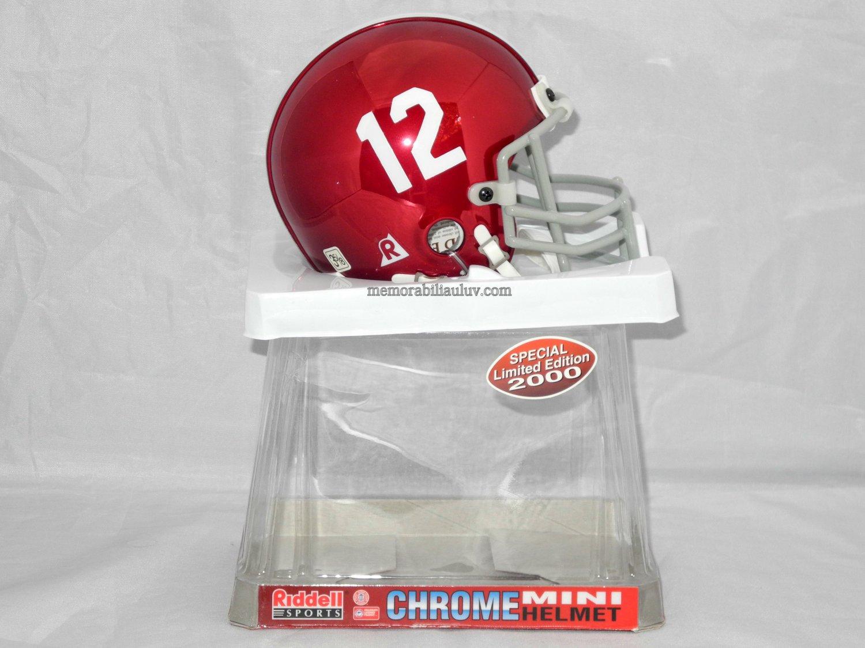 Alabama Crimson Tide Riddell Chrome Mini Helmet NCAA