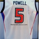 Elaine Powell Signed Detroit Shock Jersey White Large WNBA