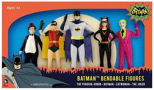 Batman Classic TV Series 5 1/2-Inch Bendable Figure Box Set