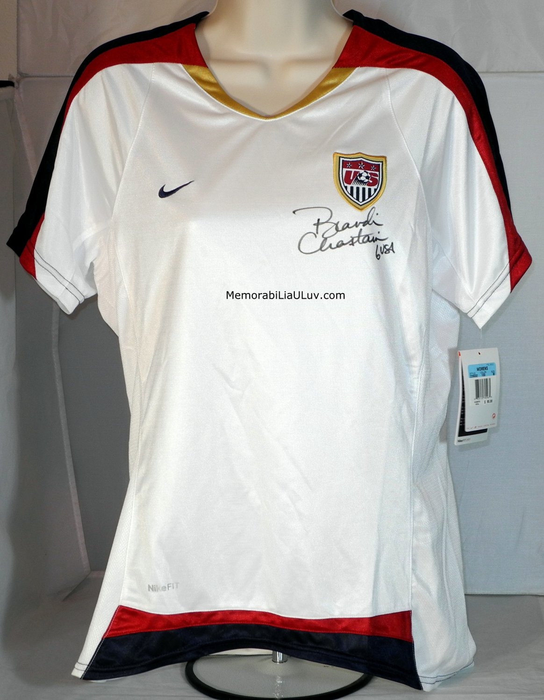 Brandi Chastain Signed Team USA Women's Jersey MLS