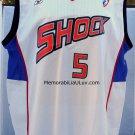 Elaine Powell Signed Detroit Shock Jersey White Large WNBA
