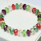 Wholesale 24 pcs/lot Mixed Fashion Unisex Crystal Handmade Stretch Colorful Bracelet (B) 8mm Beads