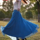 Blue New Arrival Women Ladies Swing Expansion Skirts Bottom Beach Maxi Long Full Wholesale