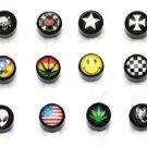 Wholesale 24pairs/lot Fashion Magnetic 8mm Acryl Stud Earrings Unisex Round Stylish Mixed
