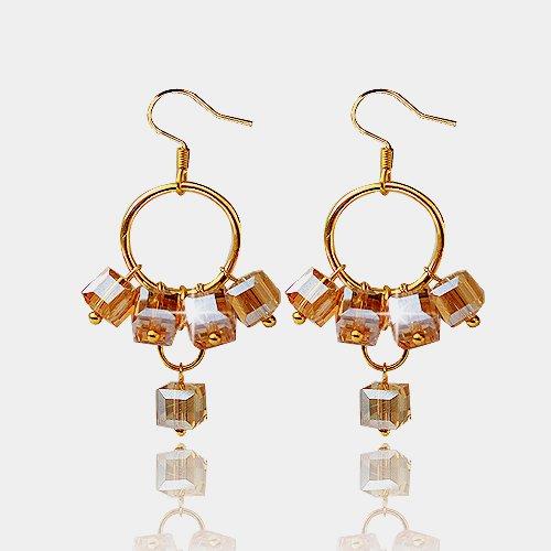 Wholesaale 24 Pairs/lot Mixed Colors Fashion Women Hook Earrings Dangle Hoop Crystal