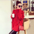 Red Women Girls Casual Pullover Sweater Knitwear Loose Baggy