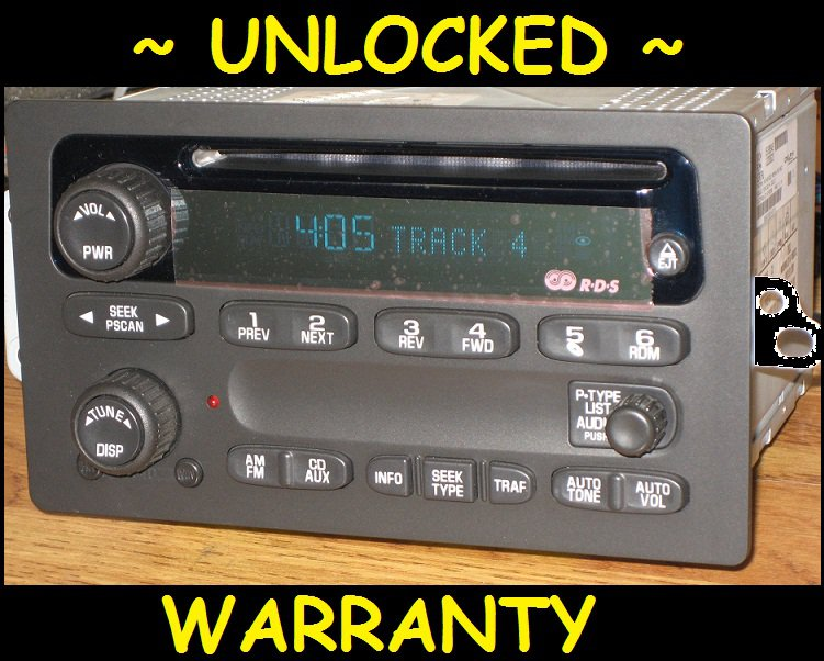 Unlocked 2002 2003 Chevy Envoy Trailblazer Radio Cd Player