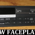 88-1999 FORD MUSTANG F150 TAPE CASSETTE RADIO FACEPLATE