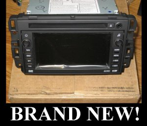 NEW UNLOCKED 2007-2011 GMC YUKON NON BOSE NAVIGATION DVD RADIO MP3 w/map&antenna